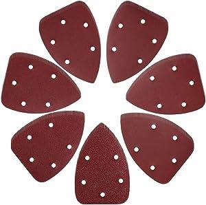 Tuzazo 72pcs Mouse Detail Sander Sandpaper Sander Pads, 40 60 80 120 180 240 320 Assorted Grits Mouse Sandpaper