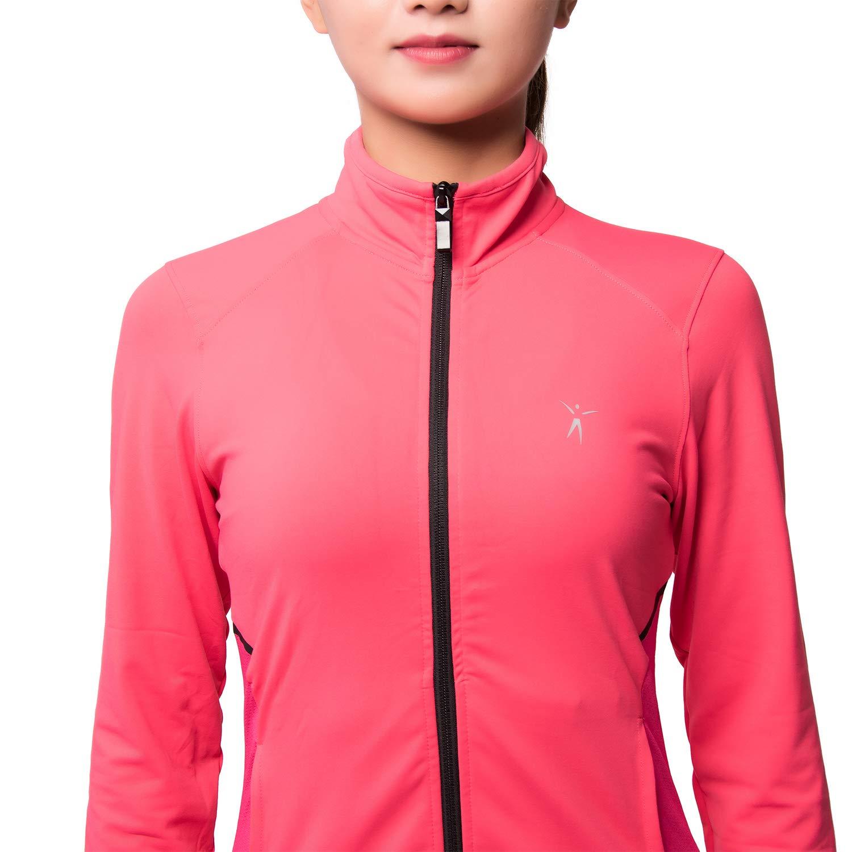 AOOTOOSPORT Womens Running Lightweight Full Zip Workout Track Jacket with Zipper Pockets