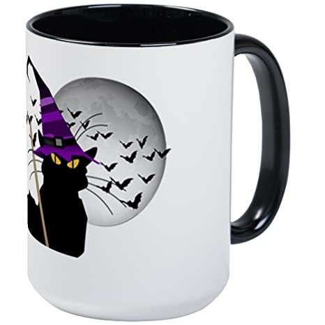 Amazon.com: CafePress – Le chat noir – bruja de Halloween ...