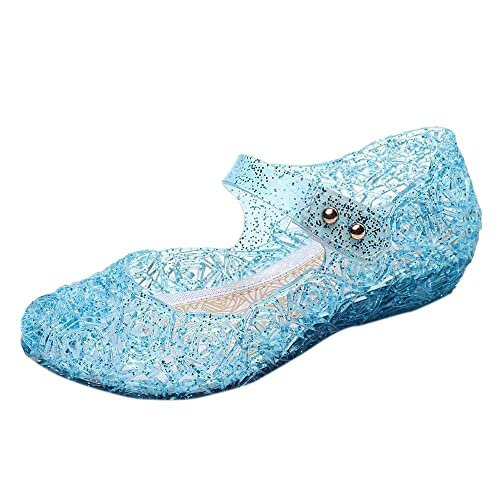 b040e4f40478 iFANS Toddler Girls Princess Jelly Sandals Kids Mary Jane Dance Party Shoes  Blue