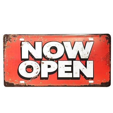 Ipekoo abierto ahora Cartel de metal tin sign Pub Metal ...