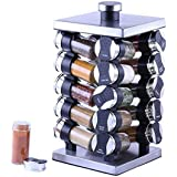 Orii Rotunda 20 Jar Spice Rack, silver, black