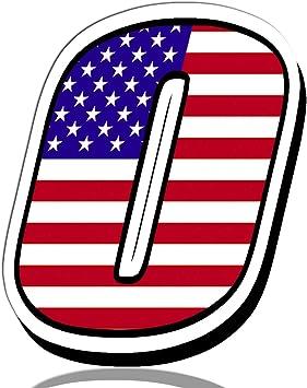 Biomar Labs® Número 0 Bandera Americana de Estados Unidos Nacional USA Calavera Vinilo Adhesivo Pegatina Coche Auto Motocross Moto Sport Start Racing Tuning N 300: Amazon.es: Coche y moto