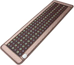 WLKQ Far Infrared Heating Pad Natural Healing Stones Negative Ions Hot Stone Therapy - with Adjustable Temp Smart Controller Available in Four Seasons for Relieves Sore Muscles
