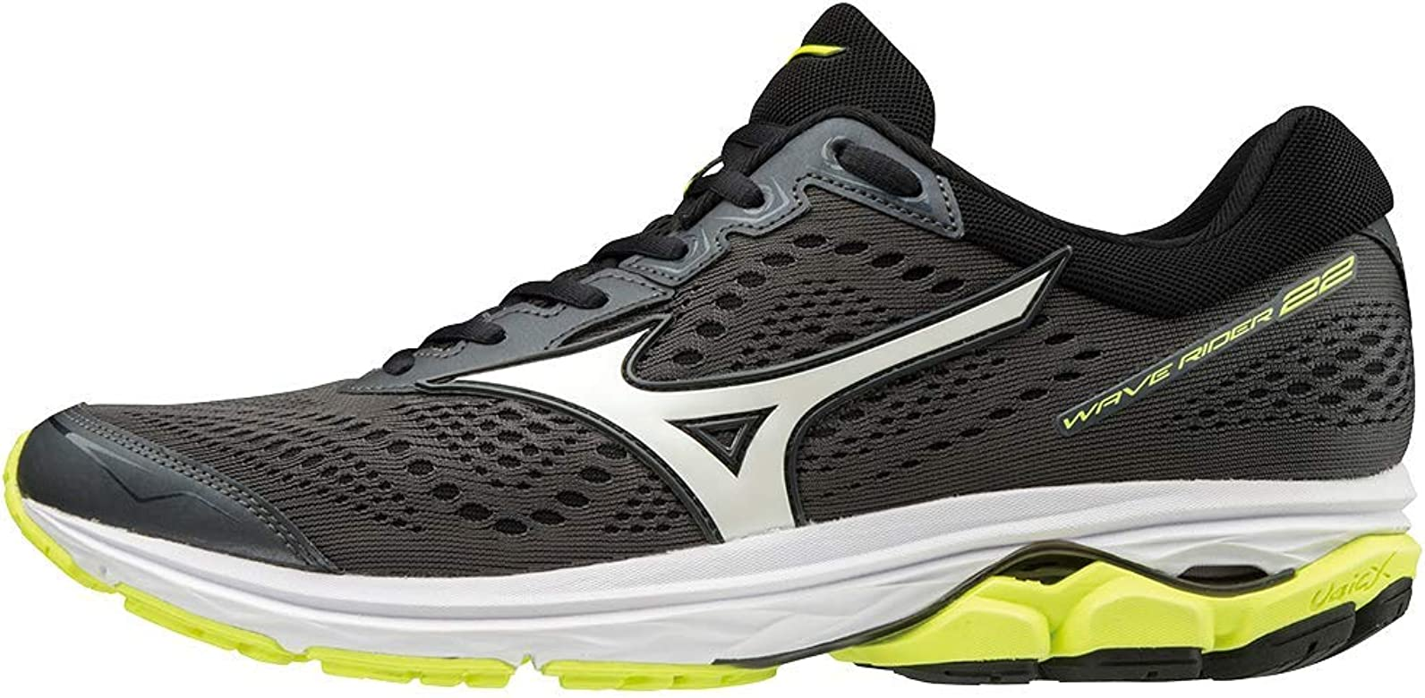 Mizuno Wave Rider 22 Zapatillas de Running Hombre, Gris (Dark Shadow/White/Safety Yellow 71), 44.5 EU (10 UK): Amazon.es: Zapatos y complementos