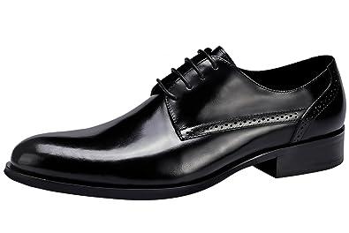 2dec9d2a8f86 SANTIMON Dress Shoes for Men Lace Up Brogue Casual Leather Classic Oxford  Shoes Black 5 D