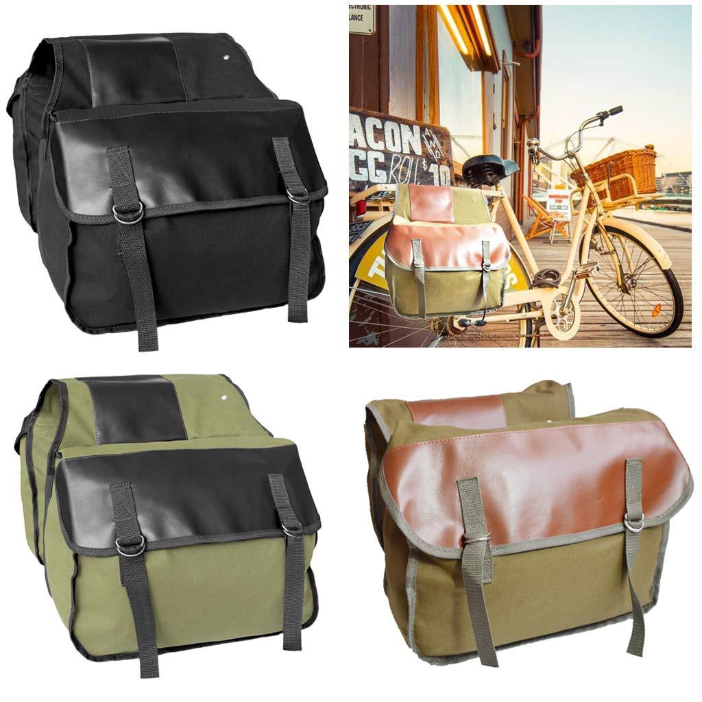 Bolso Troncal de Bicicleta de Lona de Asiento Trasero para Ciclismo Accesorios SM SunniMix Doble Bolsas de Equipaje Resistentes