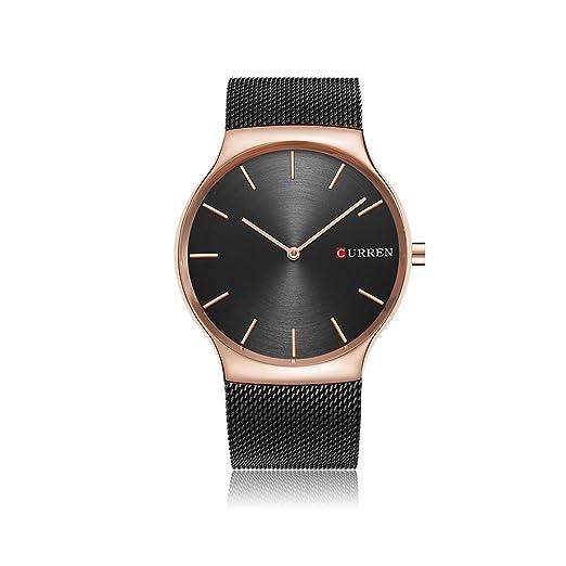 CURREN Acero Inoxidable Reloj de Pulsera Hombre Reloj Analógico de Cuarzo Cronógrafo Cuarzo: Amazon.es: Relojes