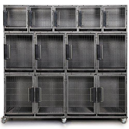 Proselect Modular Kennel Cage Bank Kit  11 Units