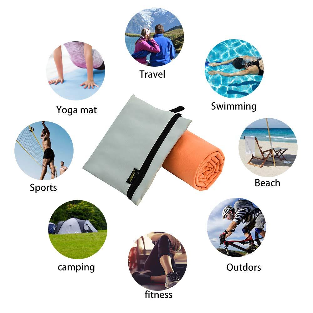 Piscina Riemot Asciugamano Palestra in Microfibra Fitness Telo Mare//Spiaggia // Panca//Bagno // Doccia Yoga Antibatterico Compatto Assorbente Asciugamani Microfibra Sport/da Viaggio