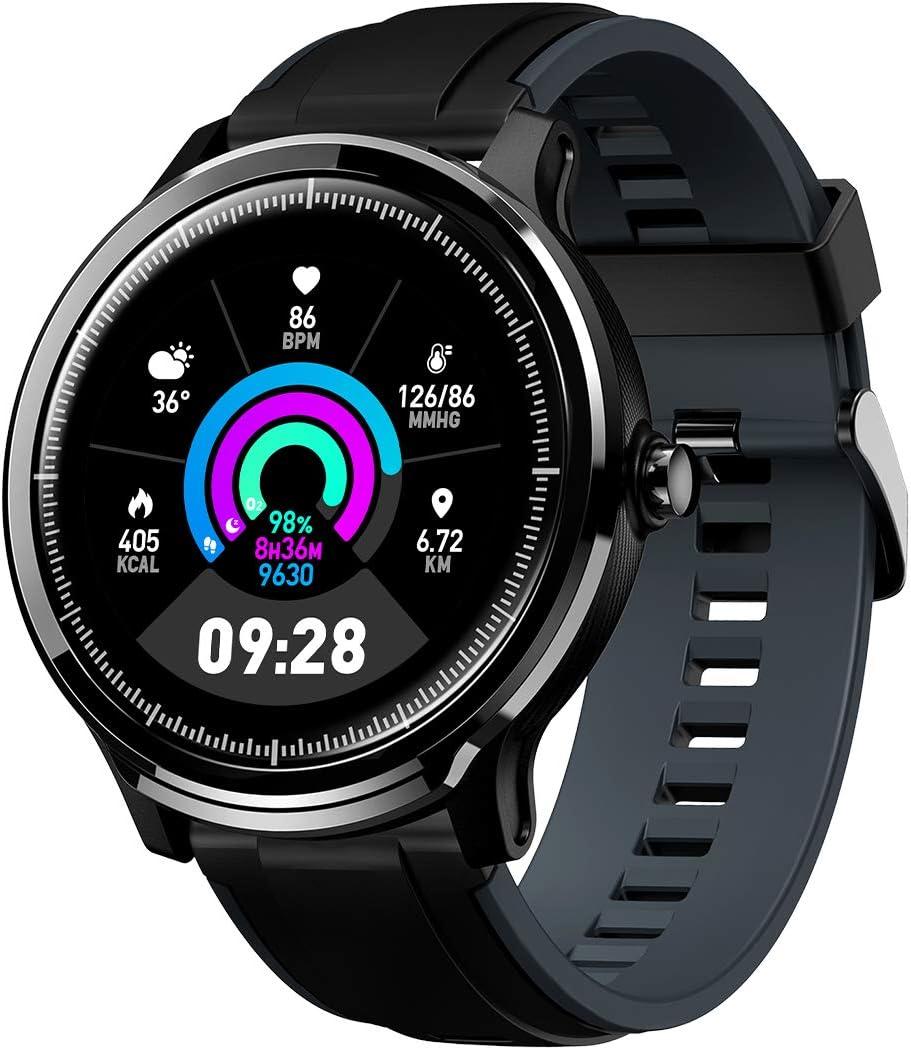 GOKOO Bluetooth Smartwatch Hombre Reloj Inteligente Impermeable IP68 Actividad Monitor Pulsómetro Compatible con Android y iOS Regalo del Día del Padre