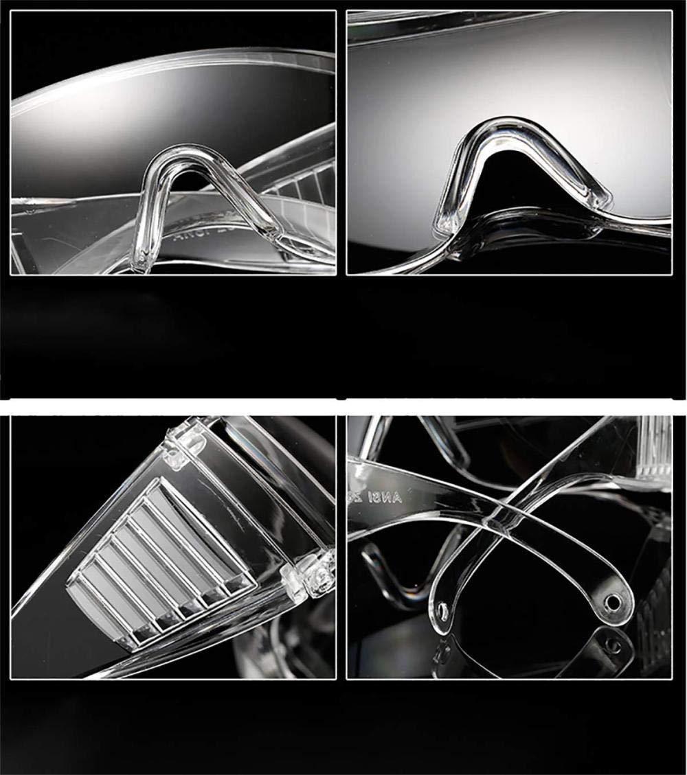 Gafas Transparentes con protecci/ón anti niebla y protecci/ón y antiara/ñazos ultravioleta perfecta Gafas Protectoras Pack de 10 gafas de seguridad para Trabajo y Deporte Hombre Mujer