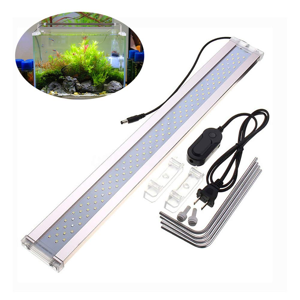 ADE500C LED Aquarium Light, High Illumination Fish Tank Light for Freshwater Tanks,with Extendable Brackets