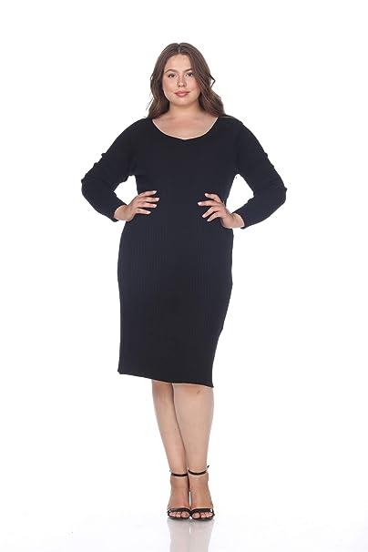 Women\'s Plus Size Destiny Ribbed Sweater Dress
