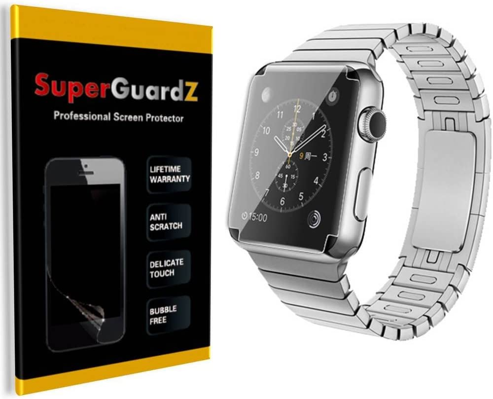 [4-Pack] For Apple Watch 42 mm (1st Generation) - SuperGuardZ [FULL COVER] Screen Protector, Ultra Clear, Anti-Scratch, Anti-Bubble