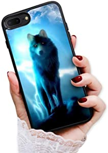 for iPhone 5, iPhone 5S, iPhone SE (2016), Art Design Soft Back Case Phone Cover, HOT12317 Night Wolf Moon
