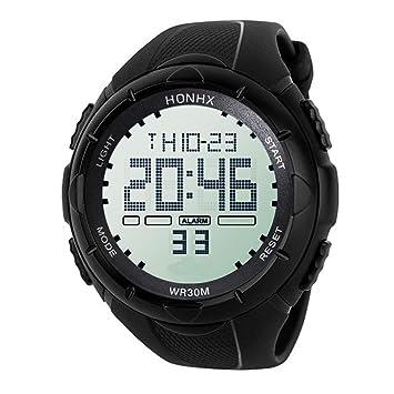 Reloj deportivo digital para hombre, reloj militar al aire libre, resistente al agua,