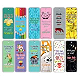 Kids Bookmarks Bulk (60 Pack) - Funny Jokes Series 1 - Literary Gifts Party Favors Teacher Classroom Reading Rewards and Incentive Gifts for Boys Girls Children