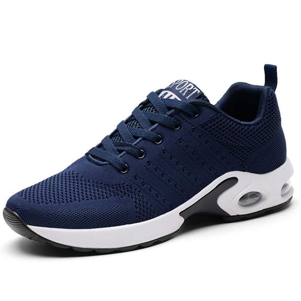 Fuxitoggo Herren Freizeitschuhe Outdoor Sports Schuhe Mode vielseitig Fliegende gewebte Stoffe leichte Stoßdämpfung (Farbe   Blau, Größe   38)