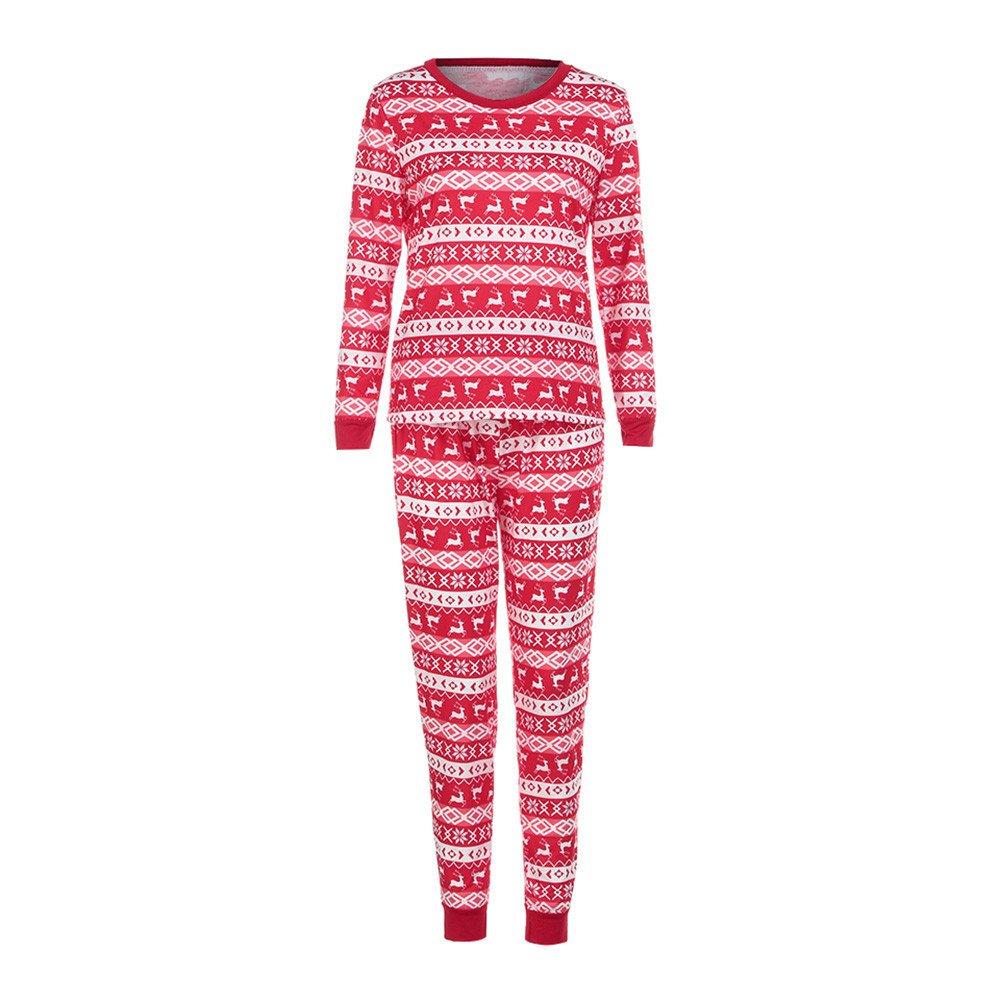 Malloom® Christmas Family Pajamas Set, 2017 New Deer T Shirt Tops Blouse Pants Pajamas Xmas Set