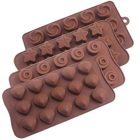 Moldes de silicona para chocolate, YuCool antiadherente aprobado por la FDA para tartas de chocolate