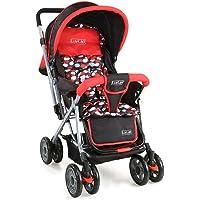 Luvlap Baby Stroller Pram Sunshine Red/Black