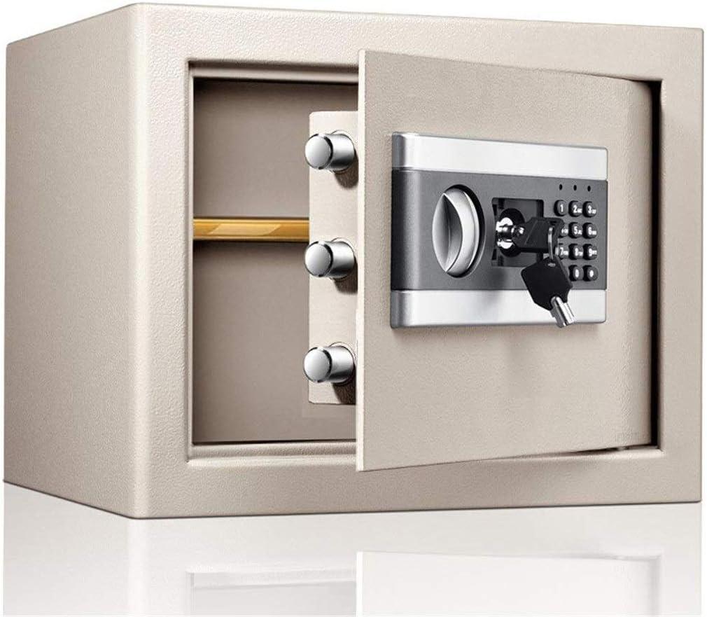 JJYPY 安全ロック電子デジタルセーフティボックス、宝石ガン現金保管のためのキーとパスワード鋼板セーフティボックス