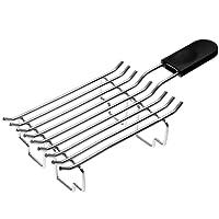 Kitchenaid 5KTBW222 Brötchenaufsatz Brötchenröstaufsatz, Edelstahl, Silber/schwarz