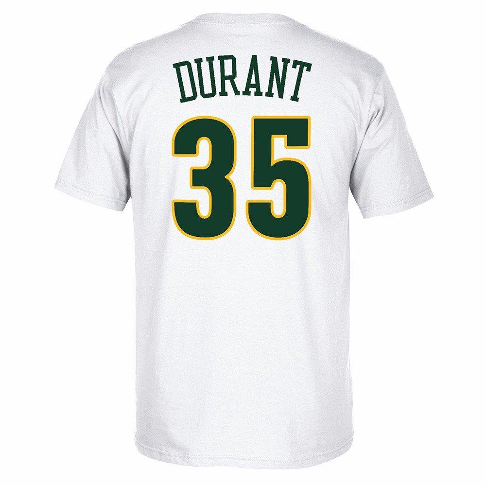 Adidas Kevin Durant Seattle Supersonics NBA Hombres Color Blanco Alma Swingman Nombre & número Jersey Camiseta, S, Blanco: Amazon.es: Deportes y aire libre