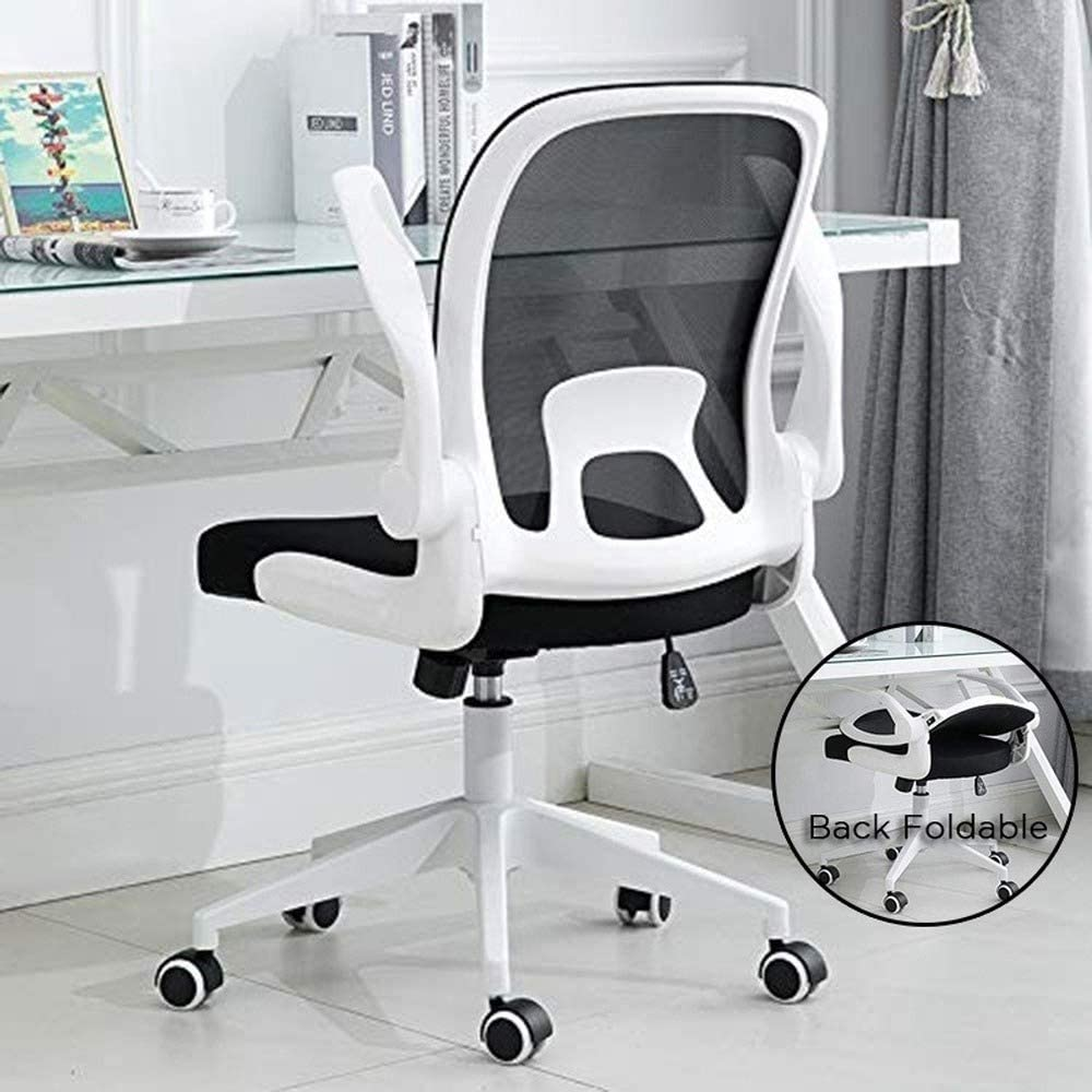 Erommy Office Task Desk Chair Swivel Home Comfort Chairs with Folding Back and Adjustable Height