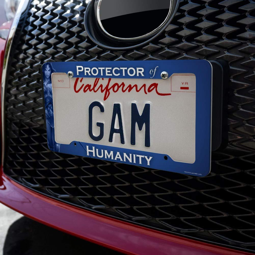 Graphics and More Wonder Woman Movie Protector of Humanity License Plate Tag Frame