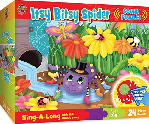 MasterPieces Sing-A-Long The Itsy Bitsy Spider - 24 Piece Kids Puzzle with 30 Second Sound Chip - Itsy Bitsy Buttons