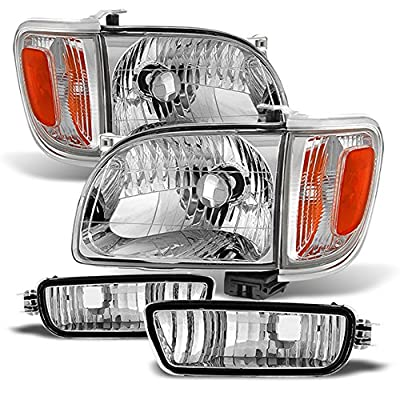 01-04 Toyota Tacoma Pickup Truck Headlights Front Lamps + Corner Signal Lights 4 Pieces Set