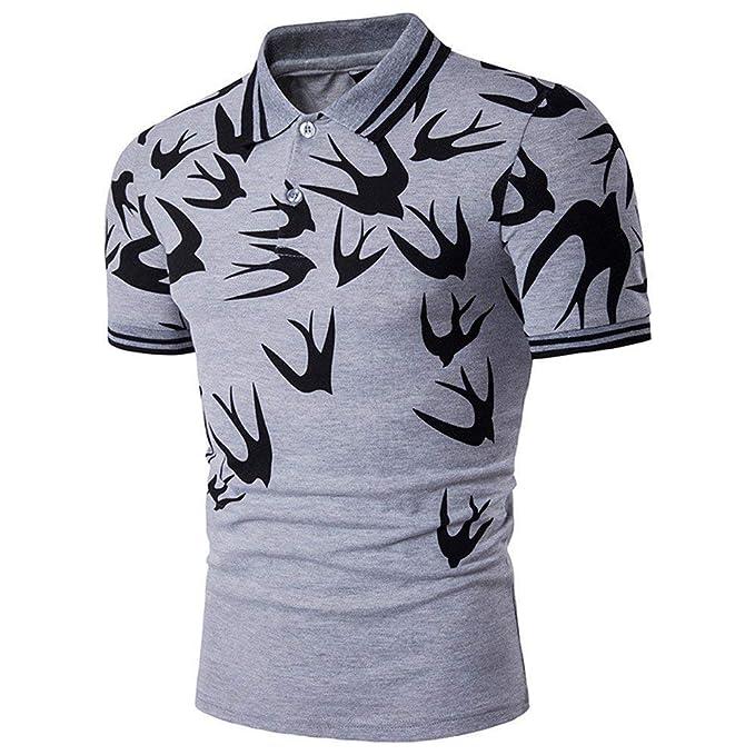 ... Camisa De Jersey Mode De De Marca Camisa Polo Camisa De Polo Camisa De  Hombre Y Camiseta Estampada De Estilo Americano  Amazon.es  Ropa y  accesorios d9b4df8257ddd