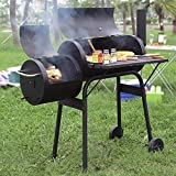 BestMassage BBQ Grill Charcoal Barbecue Outdoor Pit Patio Backyard Home Meat Cooker Smoker Process Paint Not Flake Black