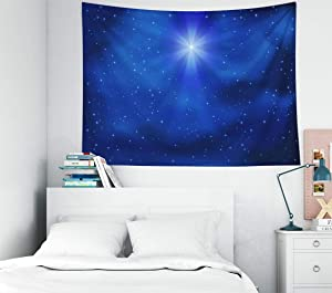 Gesmatic Small Tapestry, Christmas Tapestry Ceiling Tapestry 40X30 Inches Tapestry Wall Hanging Shining Christmas Star Night Sky Dorm Tapestry Wall Decor Tapestry for Bedroom