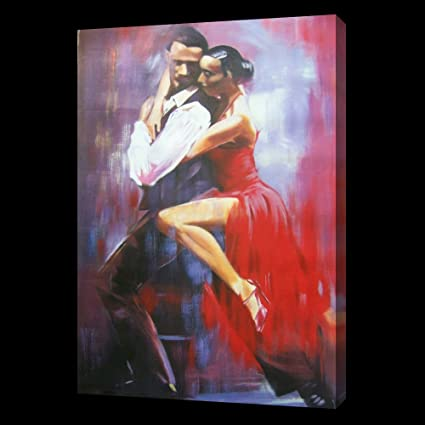 framing avail Flamenco salsa dancers 40x28 Oil Painting,NOT a print or poster