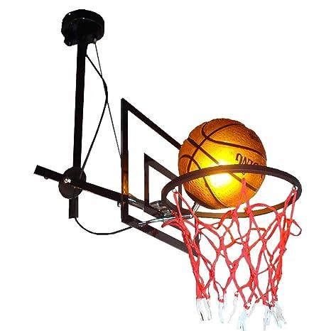 Amazon.com: Lámpara de techo de baloncesto nórdica moderna ...