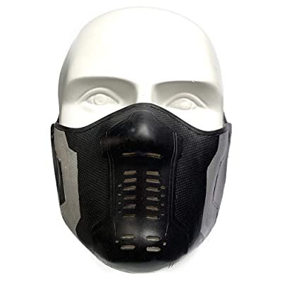 Winter Soldier Latex Mask Bucky Barnes James Buchanan Cosplay Costume Accessory Black: Clothing