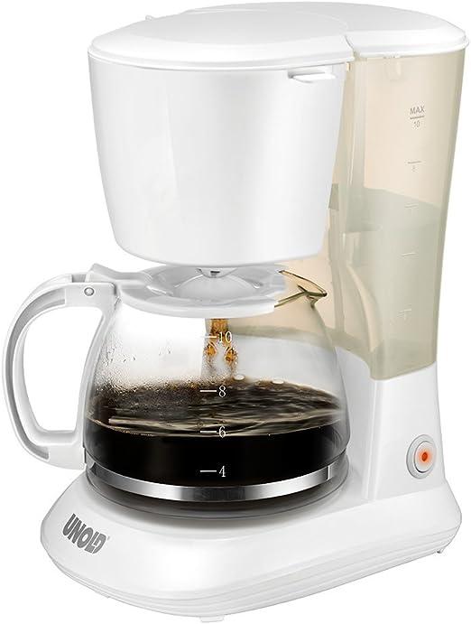 Unold Flavour Independiente - Cafetera (Independiente, Cafetera de filtro, 1,2 L, De café molido, 750 W, Blanco): Amazon.es: Hogar
