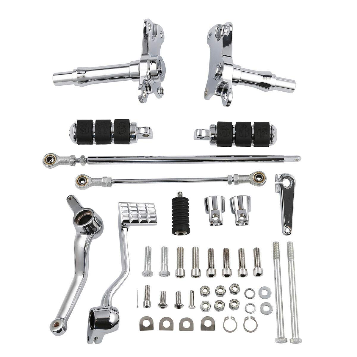 TCT-MT Complete Forward Control Pegs Levers /& Linkage Fit For Harley Sportster XL 883 1200 1991-2003 Custom Anniversary Hugger Police XL883C
