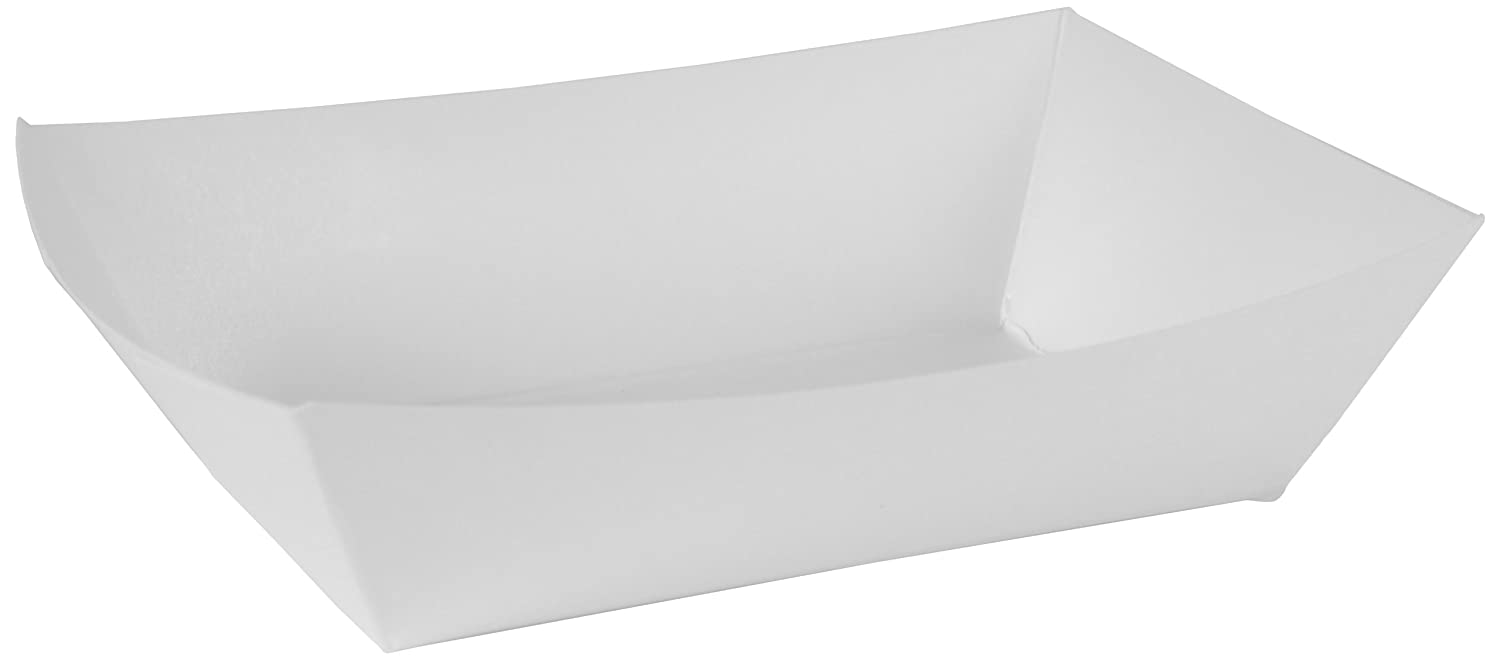 Southern Champion Tray 0555 #250 Paperboard Food Tray, 2-1/2 lb Capacity, White (Pack of 500)