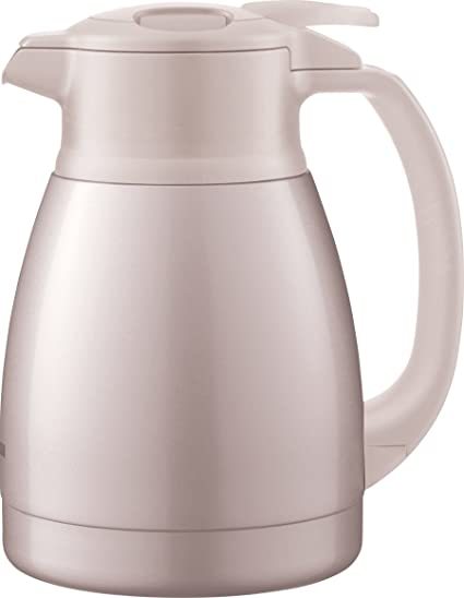 Zojirushi Stainless Steel Lined Vacuum Insulated Handy Pot, 1 Litre, Herb Pink (SHHA-10-PF)