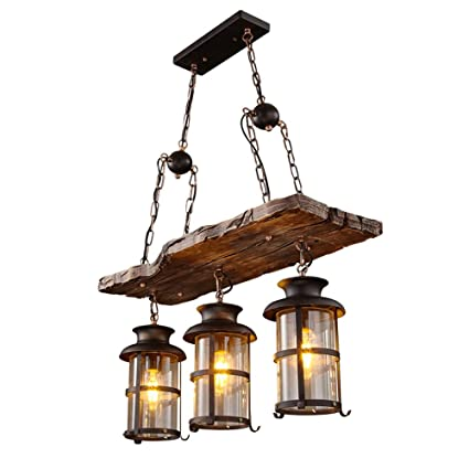 UOOGOU Lámparas de Techo Lámparas Colgantes de Hierro, 3 ...