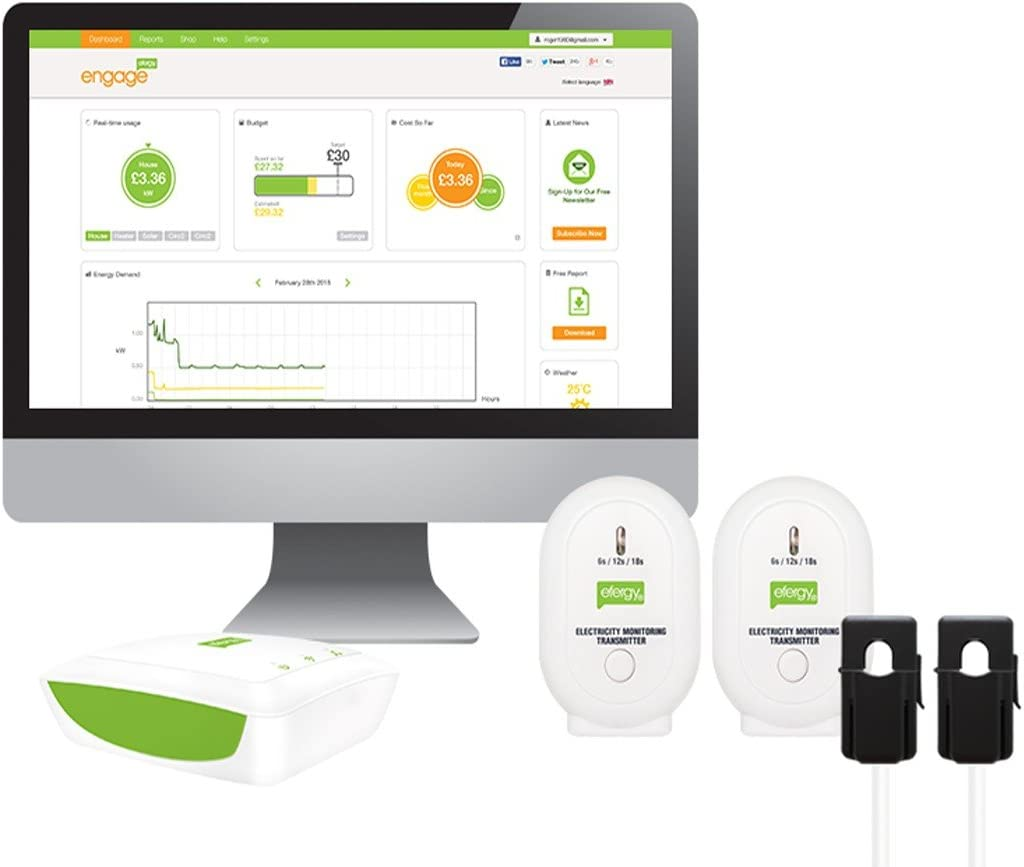 Efergy Engage Solar Kit - Monitor Energía Fotovoltaica