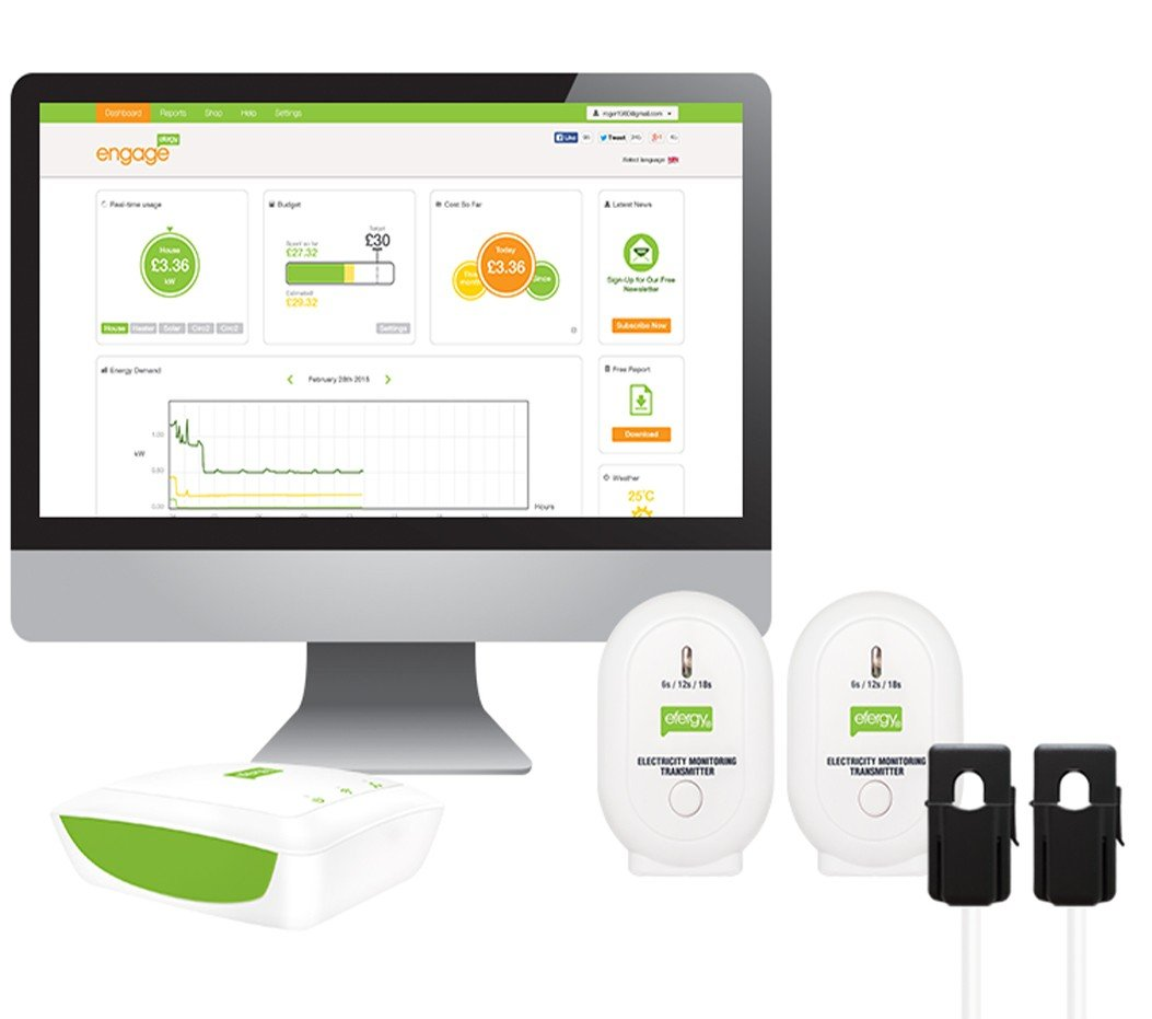 Engage Solar Kit - Monitor Energí a Fotovoltaica Efergy