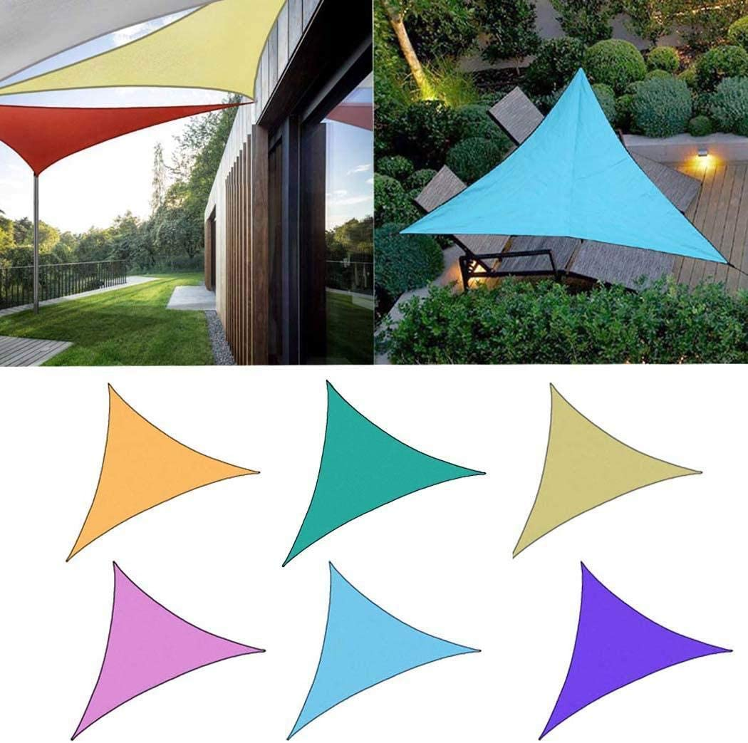 Suines Portable Triangle Shape UV Protection Outdoor Sunscreen Awning Canopy Shade Sails
