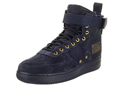 online store 3164b 7bef9 Nike Men s SF Air Force 1 Mid Shoes in Suede and Blue Fabric 917753-400
