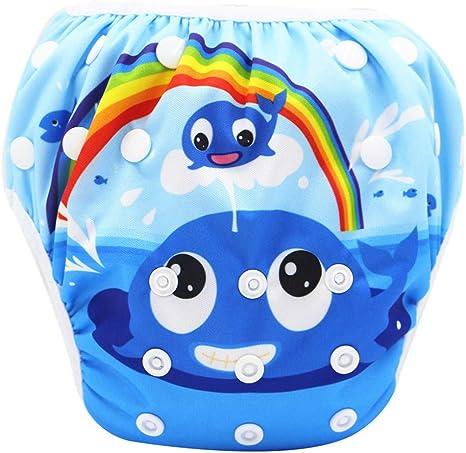 NROCF Pañales De Natación para Bebés - A Prueba De Agua Ajustable Pañales De Tela para Pantalones Piscina Piscina Cubierta del Pañal Lavable Reutilizable De Los Panales del Bebé,09: Amazon.es: Deportes y