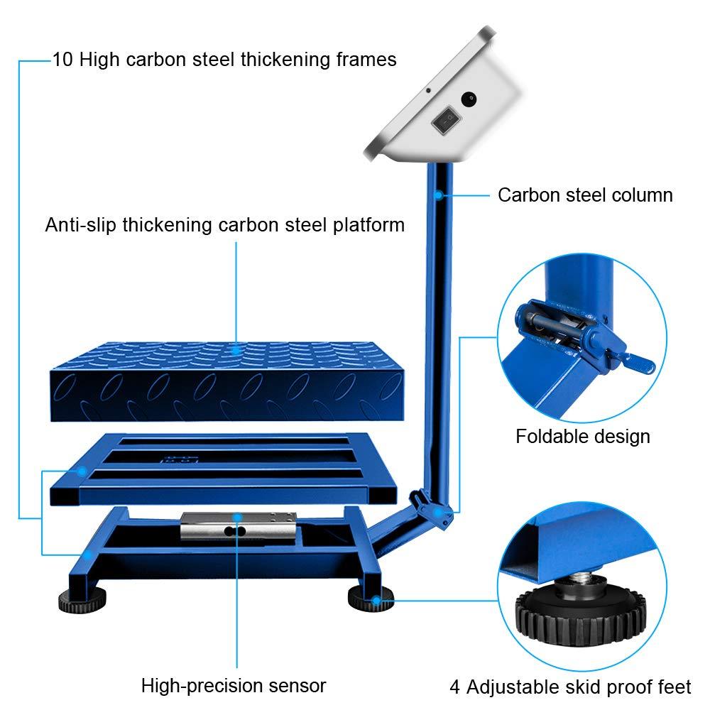 Amazon.com: Toffiom 661lbs Peso Báscula de plataforma ...